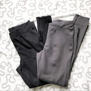 Stylus THICK Leggings Lot Charcoal And Black